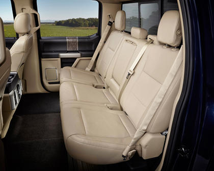 2017 Ford F-250 Super Duty Lariat Crew Cab Pickup Rear Interior