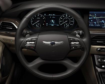 Genesis G90 Premium Sedan Steering Wheel Detail