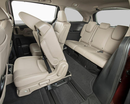 2018 Honda Odyssey Elite Passenger Minivan Rear Interior Shown
