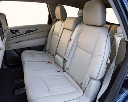 2017 INFINITI QX60 4dr SUV Rear Interior Shown