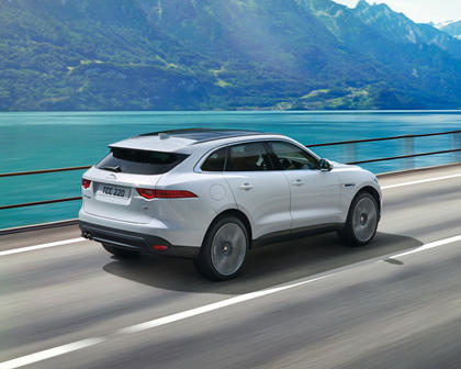 2018 Jaguar F-PACE 20d Prestige 4dr SUV Exterior. Options Shown.