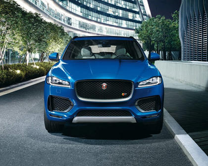 2018 Jaguar F-PACE S 4dr SUV Exterior. Black Package Shown.