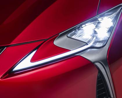 2018 Lexus LC 500 Base Coupe Headlamp Detail Exterior Detail