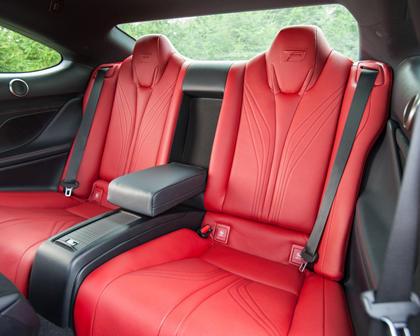 2017 Lexus RC F Coupe Rear Interior