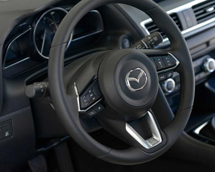 2018 Mazda 3 Grand Touring 4dr Hatchback Steering Wheel Detail