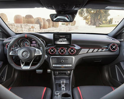 2018 Mercedes-Benz GLA-Class AMG GLA 45 4MATIC 4dr SUV Dashboard. European Model Shown.