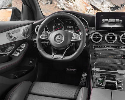 2018 Mercedes-Benz GLC-Class AMG GLC 43 4dr SUV Steering Wheel Detail