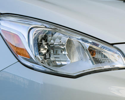 2018 Mitsubishi Mirage G4 SE Sedan Headlamp Detail