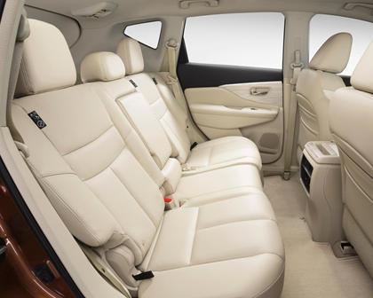 2017 Nissan Murano Platinum 4dr SUV Rear Interior