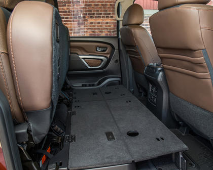 2017 Nissan Titan Platinum Reserve Crew Cab Pickup Interior Detail