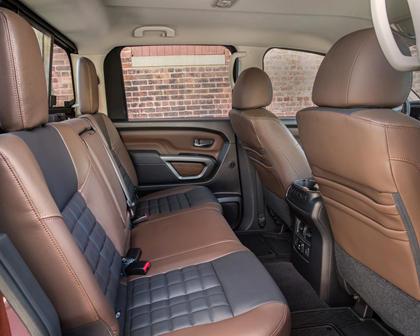 2017 Nissan Titan Platinum Reserve Crew Cab Pickup Rear Interior