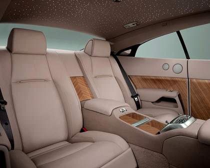 2016 Rolls-Royce Wraith Coupe Rear Interior