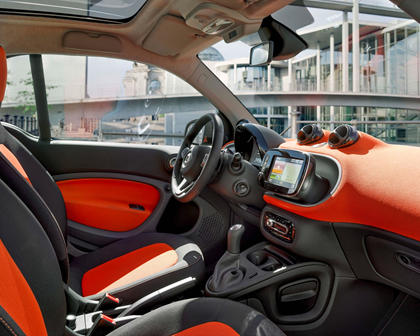 2017 smart fortwo passion 2dr Hatchback Interior