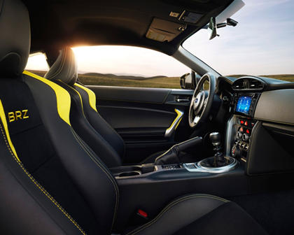 2017 Subaru BRZ Series.Yellow Coupe Interior