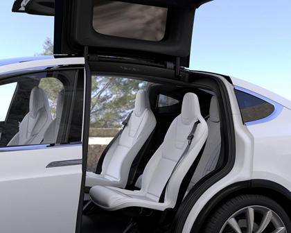 2017 Tesla Model X P100D 4dr SUV Rear Interior