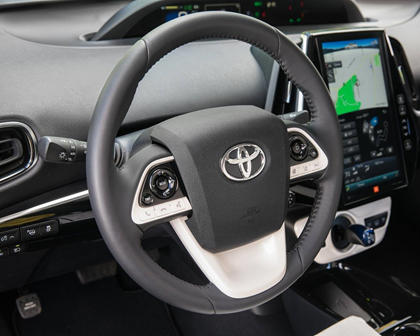 2017 Toyota Prius Prime Advanced 4dr Hatchback Steering Wheel Detail