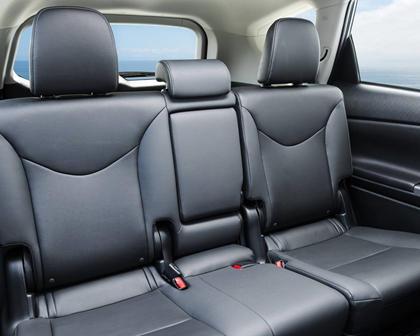2017 Toyota Prius v Five Wagon Rear Interior Shown