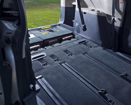 2017 Toyota Sienna Limited Premium 7-Passenger Passenger Minivan Cargo Area