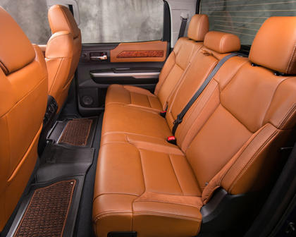 Toyota Tundra 1794 Crew Cab Pickup Rear Interior