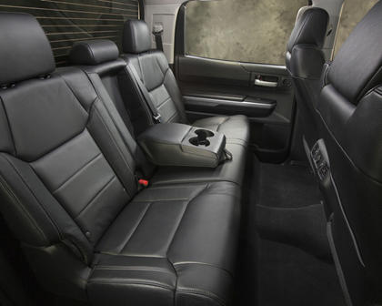 2017 Toyota Tundra Limited Crew Cab Pickup Rear Interior