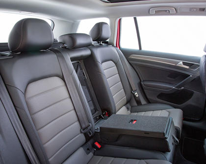 2017 Volkswagen Golf Alltrack TSI SEL Wagon Rear Interior