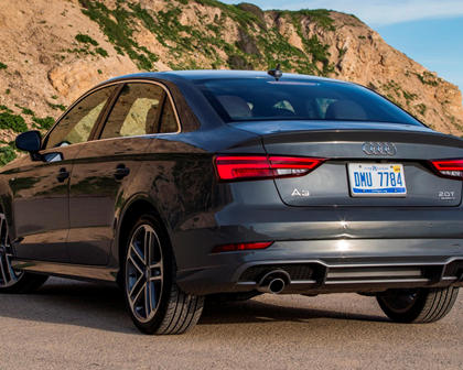 2018 Audi A3 Sedan Rear Three-Quarter Left Side View