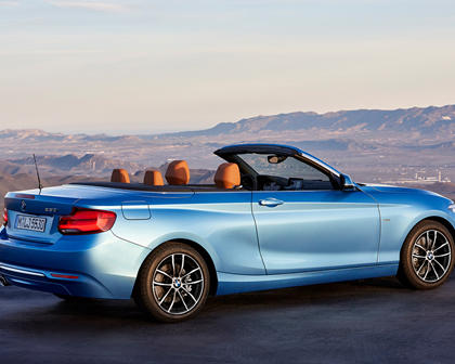 2018-2019 BMW 2 Series Convertible Rear Three-Quarter Right Side View