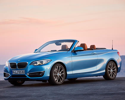 2018-2019 BMW 2 Series Convertible Front Three-Quarter Left Side View