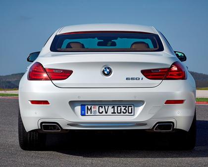 2014-2018 BMW 6 Series Gran Coupe Rear View