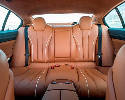 2014-2018 BMW 6 Series Gran Coupe Rear Seating
