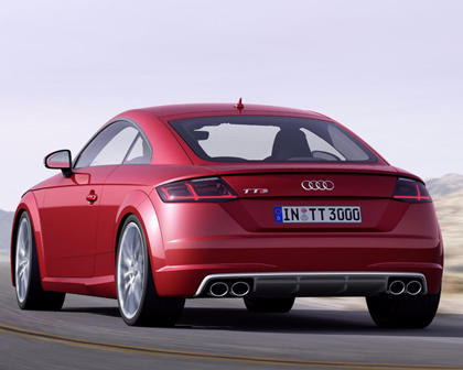 2016-2018 Audi  TTS Coupe Rear Three-Quarter Left Side View