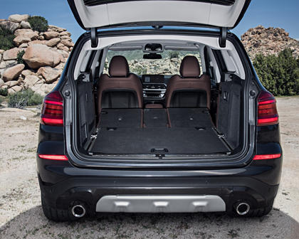 2018-2019 BMW X3 Luggage Space with Seat Folded