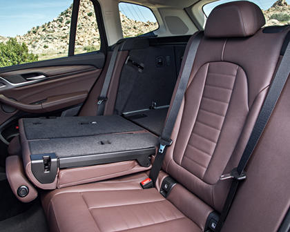2018-2019 BMW X3 Second Row Seat Moved Forward