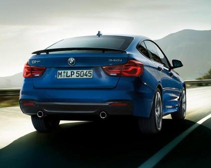 2017-2019 BMW 3 Series Gran Turismo Rear Side in Motion