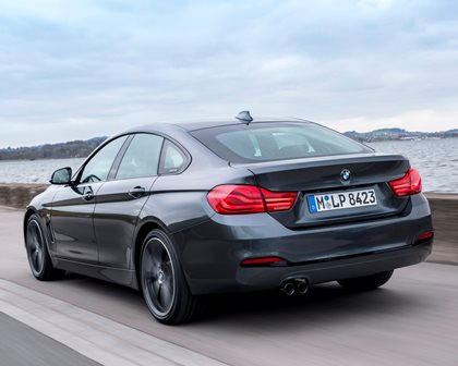 2017-2019 BMW 4 Series Gran Coupe Rear Angle in Motion
