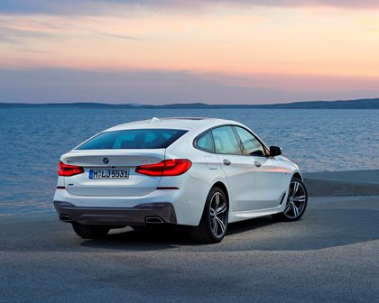 2018 BMW 6 Series Gran Turismo Rear Three-Quarter Right Side View