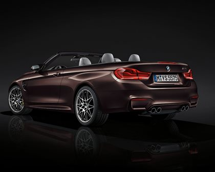 2018 BMW M4 Convertible Rear Three-Quarter Left Side View