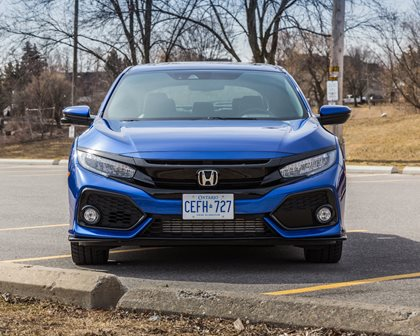 2018 Honda Civic Sport Touring Hatchback Front View