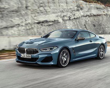 2019 BMW 8 Series Front Side in Motion