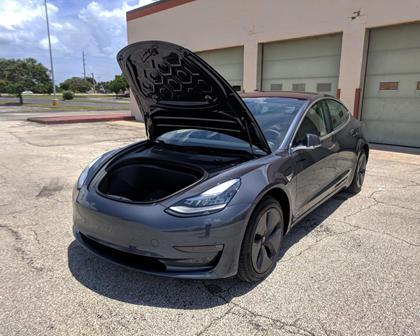 2018 Tesla Model 3 Hood Up