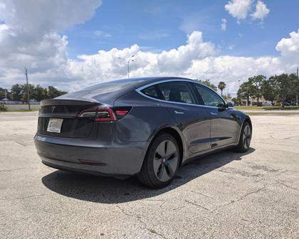 2018 Tesla Model 3 Three-Quarter Rear Right View