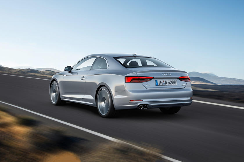 2018 Audi  A5 Coupe Rear Angle in Motion