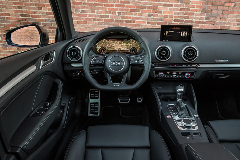 2017 Audi S3 2.0 TFSI Prestige quattro Sedan Steering Wheel Detail