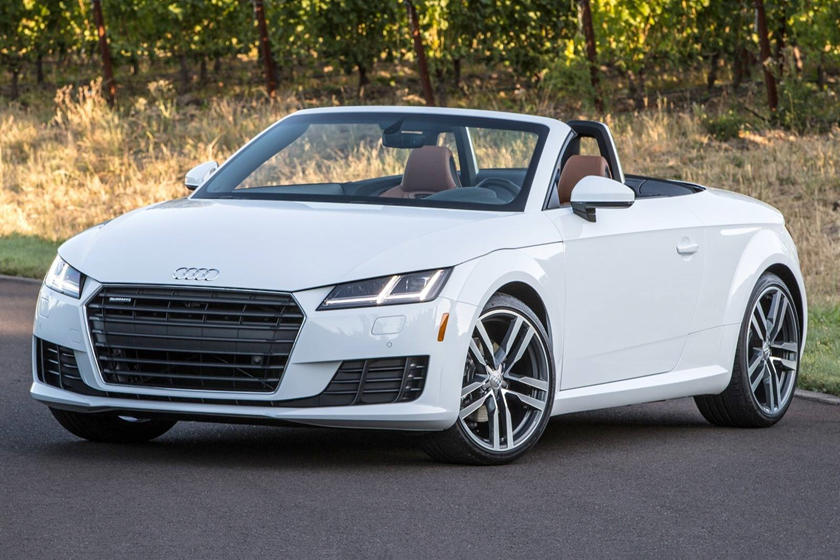 2017 Audi  TT Roadster Front Three-Quarter Left Side View Roof Down