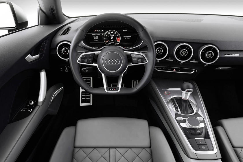 2017 Audi TTS quattro Coupe Steering Wheel Detail