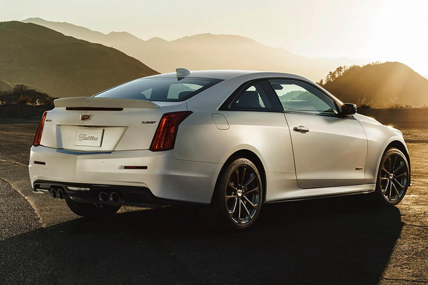 2016-2018 Cadillac ATS-V Coupe Rear Three-Quarter Right Side View
