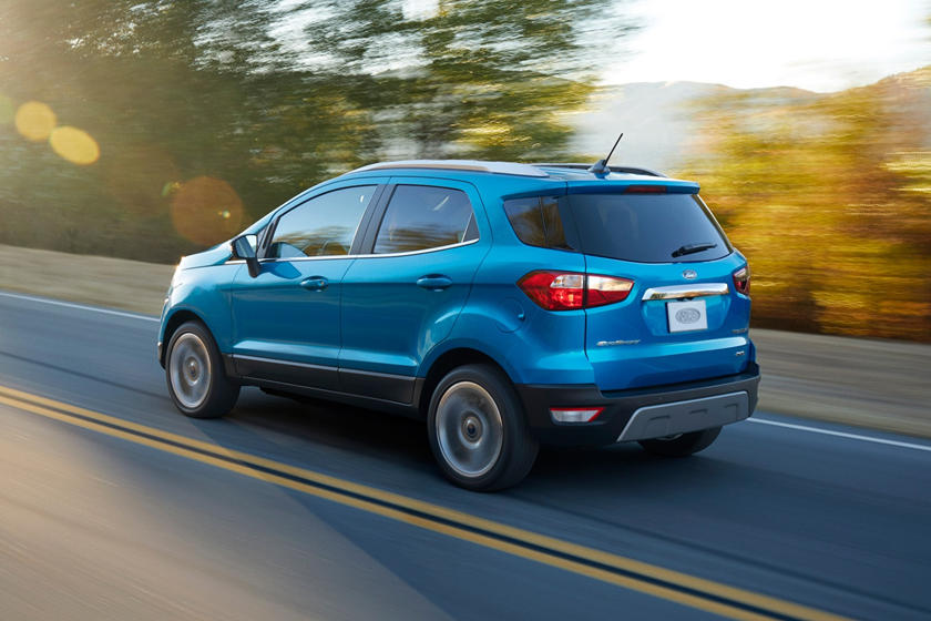2018 Ford EcoSport Rear Angle in Motion