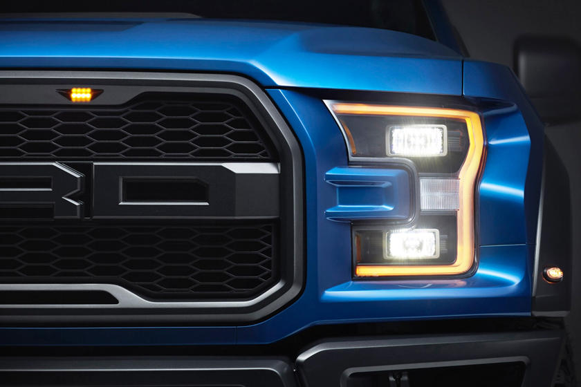 2017 Ford F-150 Raptor Extended Cab Pickup Headlamp Detail