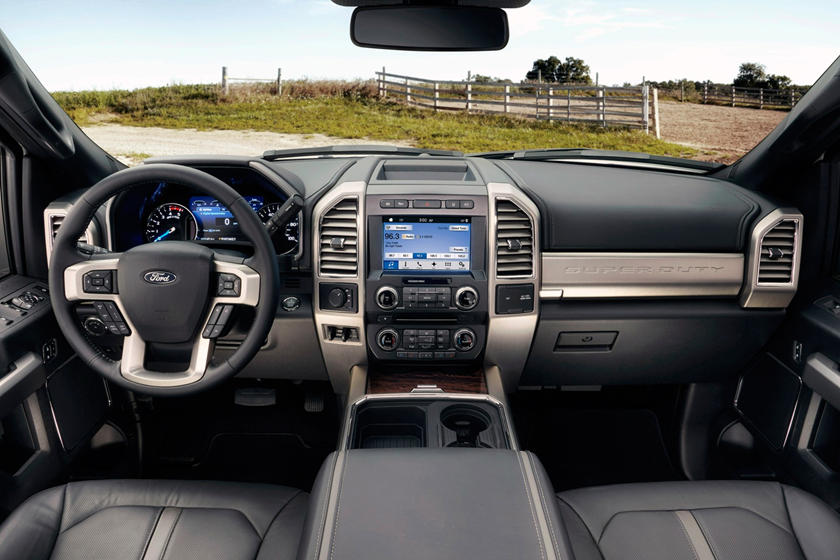 2017 Ford F-450 Super Duty Platinum Crew Cab Pickup Dashboard Shown