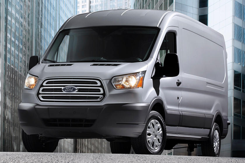 "2017 Ford Transit Van 250 Medium Roof w/130"" WB, Sliding Passenger Side Door Cargo Van Exterior Shown"